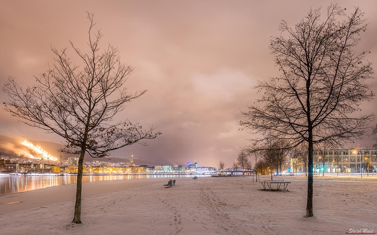 Drammen By Standa i vinter